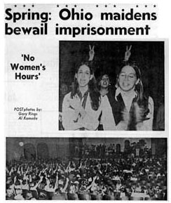 Ohio maidens bewail imprisionment--'No Women's Hours'